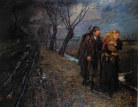 Fritz von Uhde - Die Flucht nach Ägypten (um 1891)